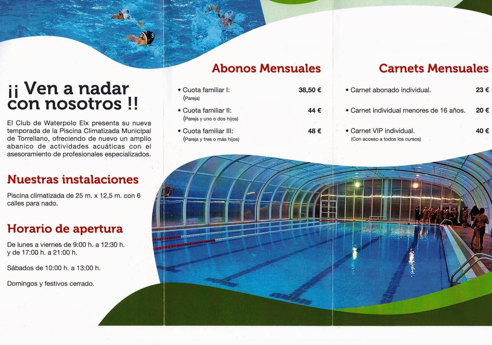 piscina municipal torrellano tr pticos con informaci n de