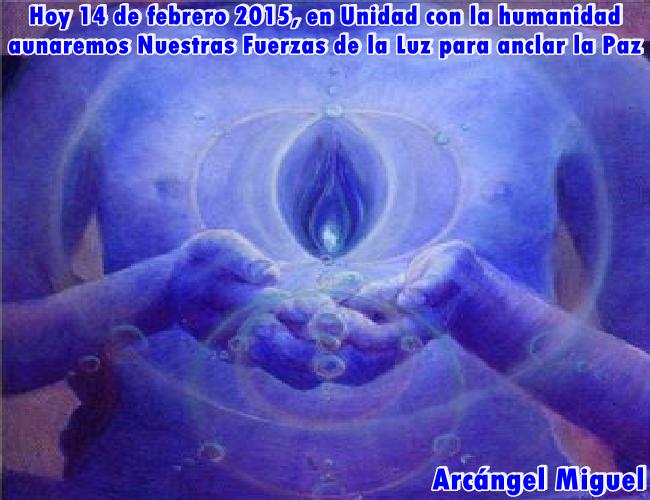 Este 14 de febrero de 2015 es un Día de Luz, una jornada única donde todos juntos, a través de los Rayos Azules, daremos más Luz a la Tierra y la humanidad.