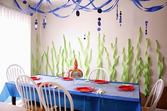 SpongeBob Squarepants Party Ideas; underwater decorations