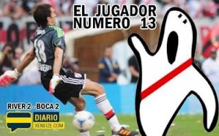 Gol del jugador numero 13