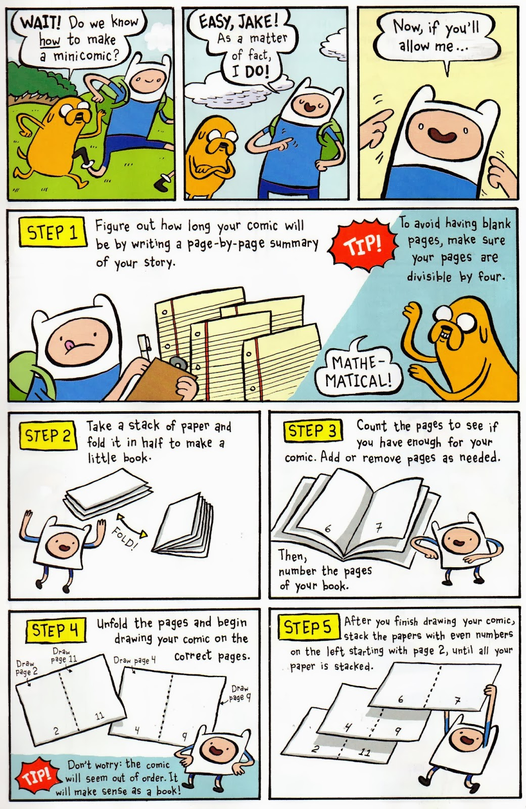 How To Make A Comic Book Cover In Photo : Fred egg comics how to make the adventure time way