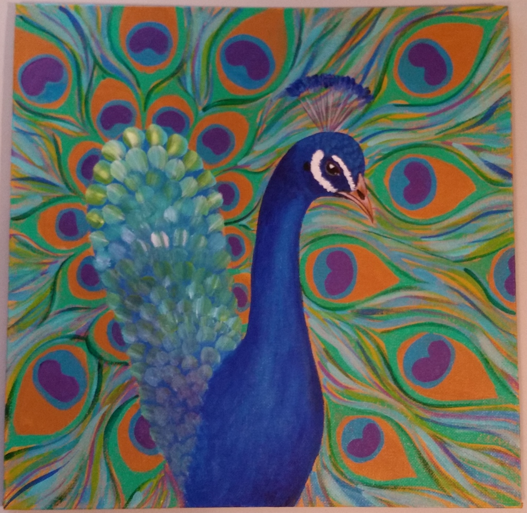 Peacock Painting Tutorial Video #PawgustArt