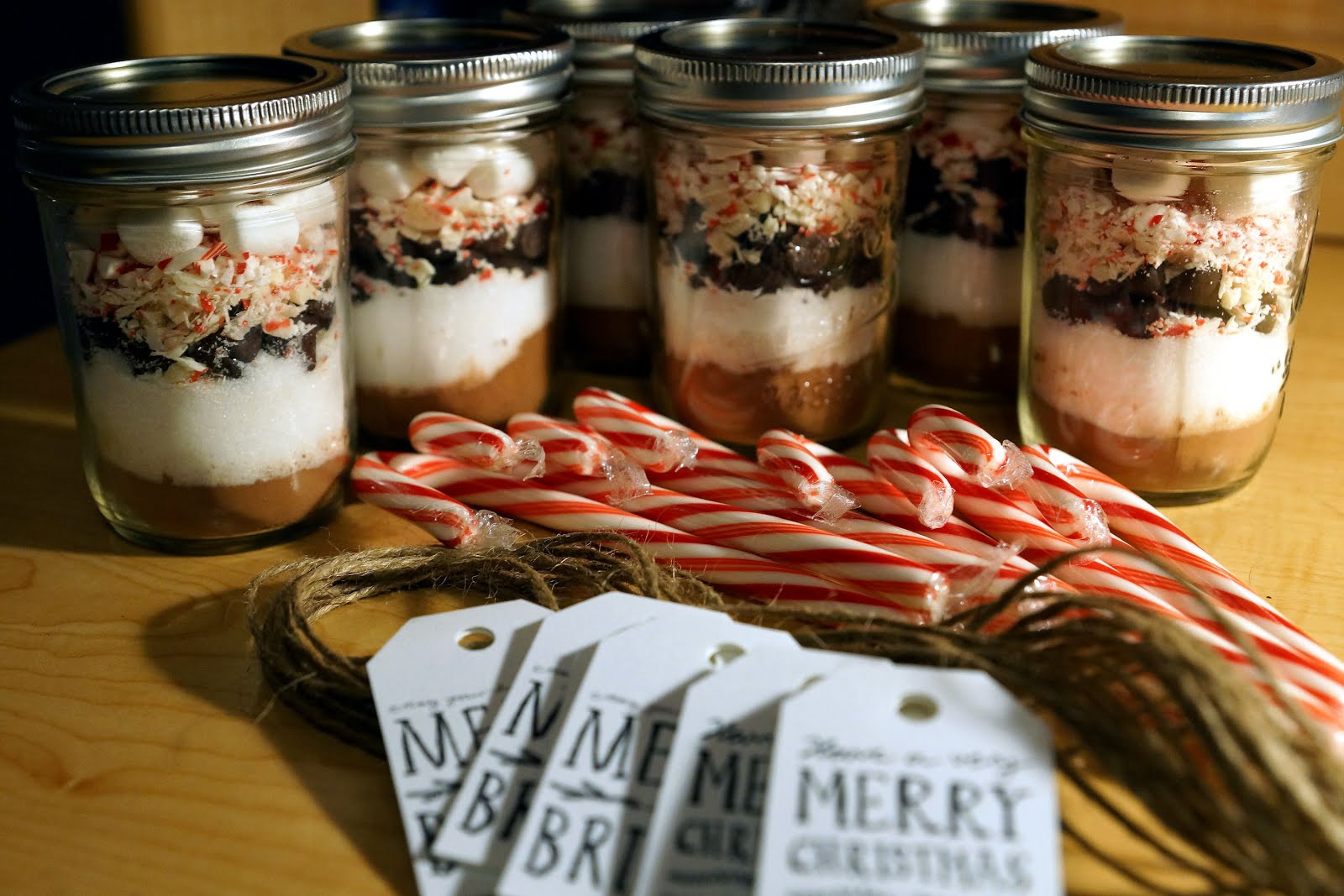 peppermint hot chocolate in jars - teacups and cinnamon