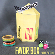 Free Silhouette Cut File: Geometric Thanks Favor Box