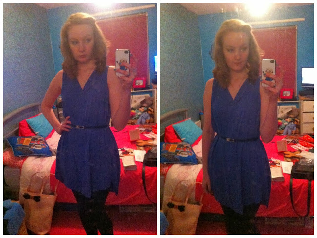Warehouse Outfit of the Night - New Year's Eve Blue Dress