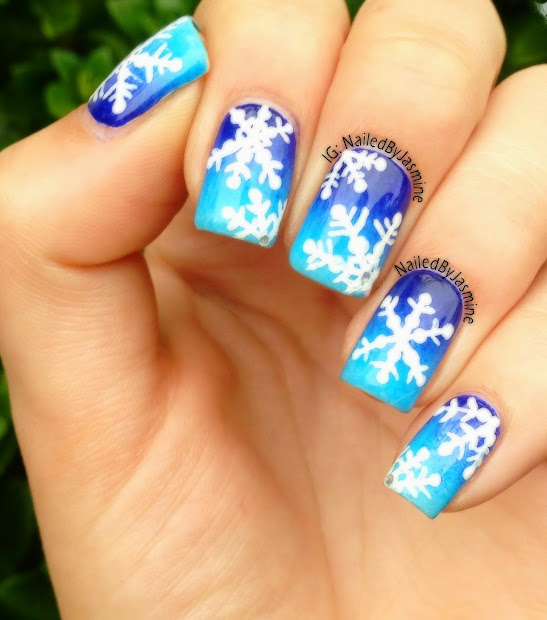 acrylic winter nails