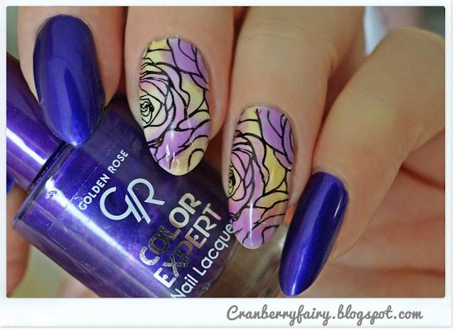 fioletowe paznokcie