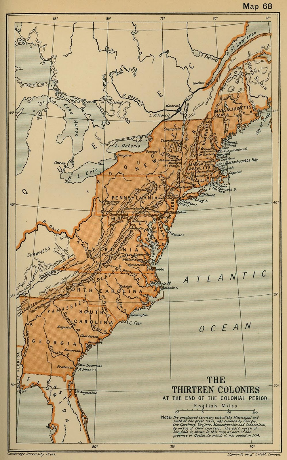 by this first post i am sharing with you a map of the 13 colonies of usa in 1775 the map is shown as below