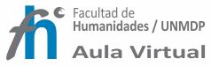 AULA VIRTUAL FACULTAD DE HUMANIDADES-UNMDP