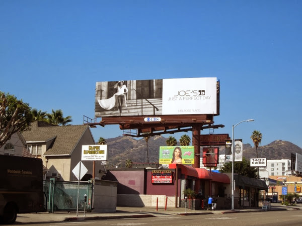 Joes Jeans wedding dress billboard