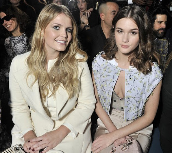 Lady Kitty Spencer and Actress Sai Bennett attend the Christian Dior Spring Summer 2016 show as part of Paris Fashion Week