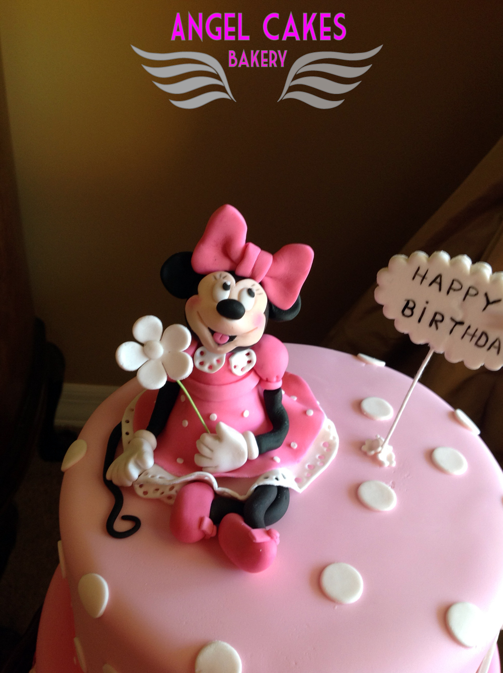 Angel Cakes Bakery Minnie Mouse 1st Birthday Cake