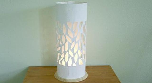 Decoraxpoco las lamparas de papel est n a la ltima - Como hacer una lampara de mesa casera ...
