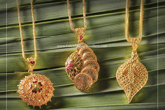 latest Gold Pendant Designs