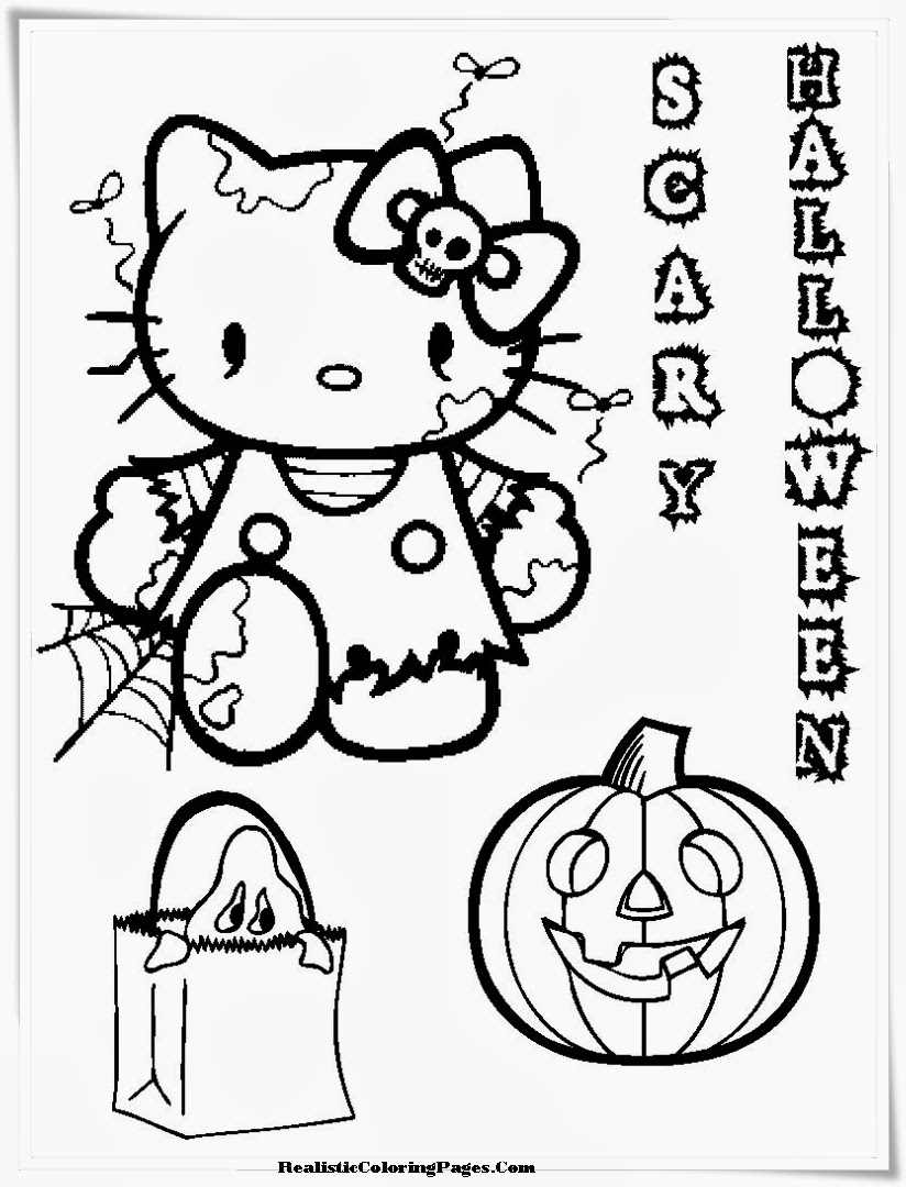 realistic halloween coloring pages - photo#22