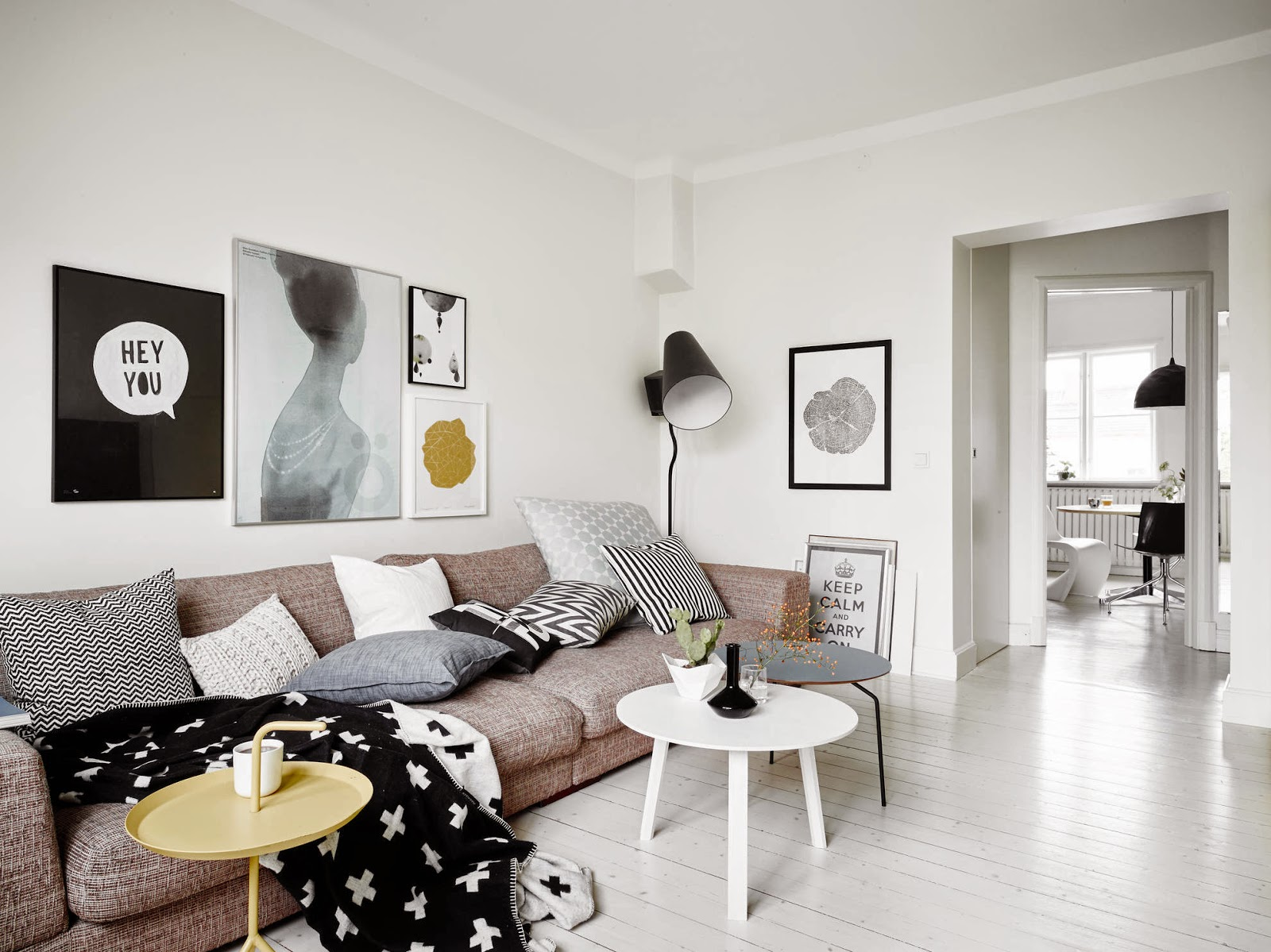This Is Your Original White And Black Contemporary Scandinavian Home Tour.  White (or Light Wood) Floors And Walls. Black Accessories, A Yellow Accent  Colour ... Images