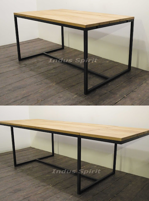 Mobilier industriel sur mesure - Table industrielle rallonge ...