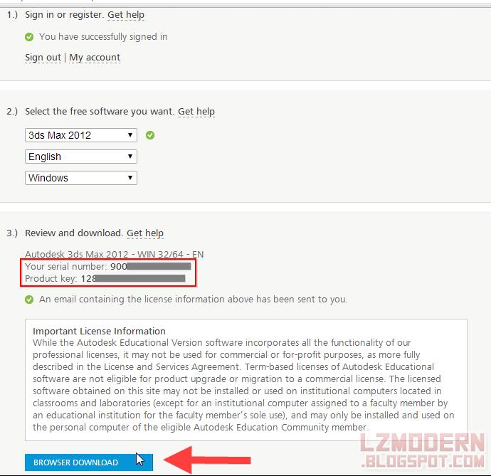 """Klik """"Browser Download"""" untuk mengunduh aplikasi autodesk kamu"""