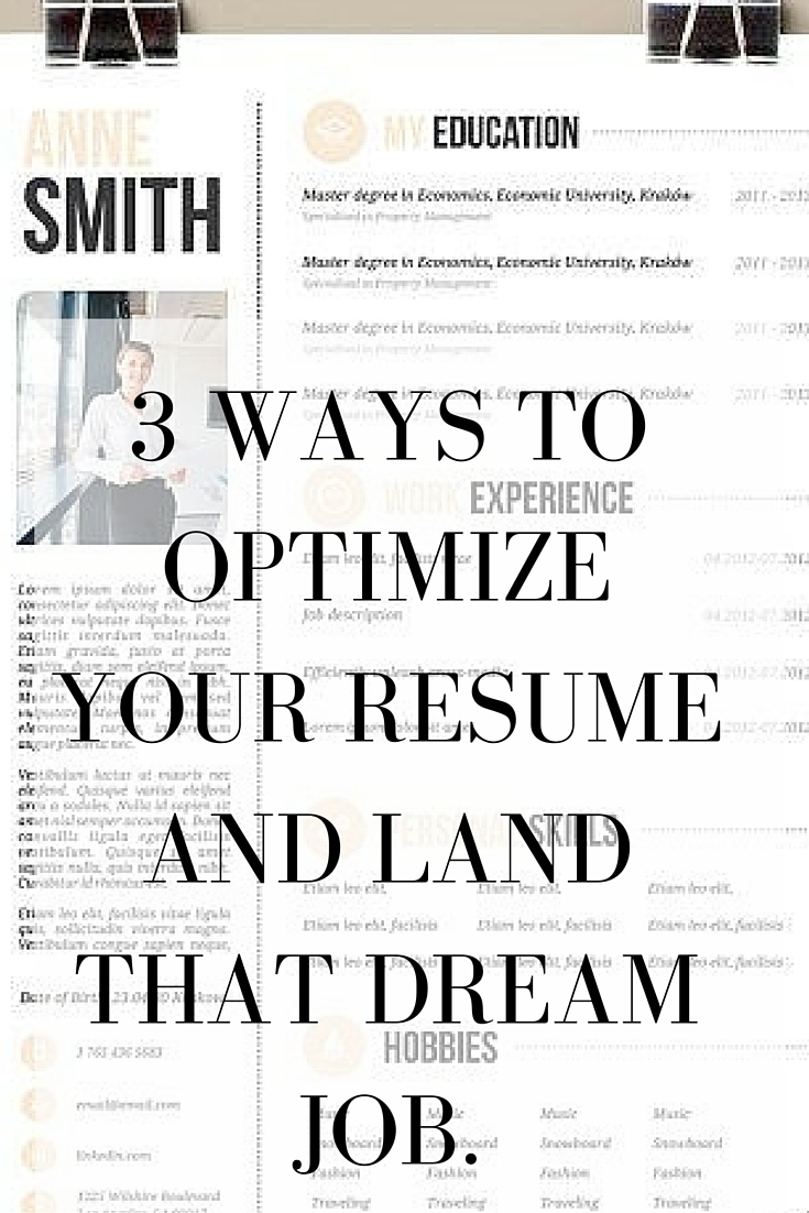 optimize resume