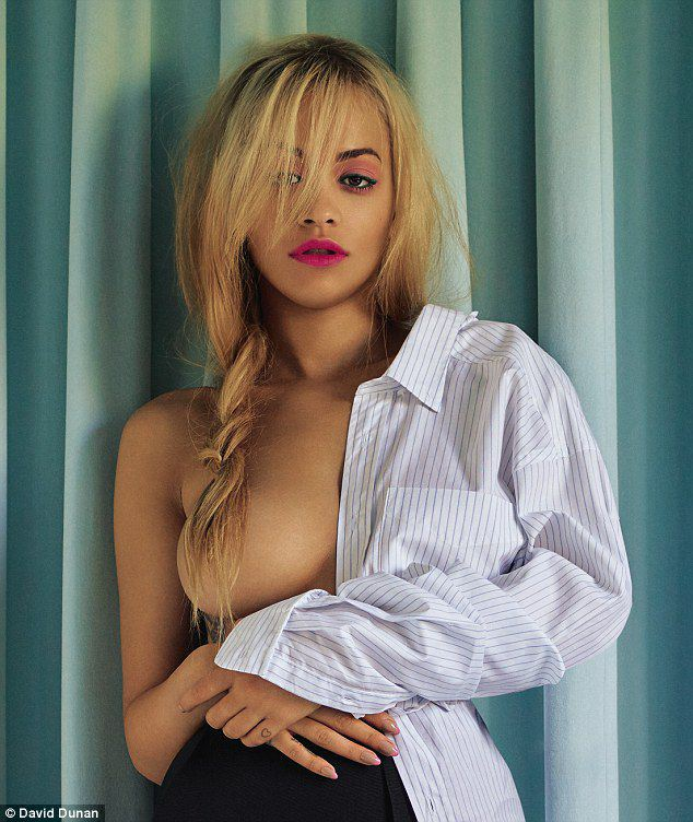 RITA ORA – GLAMOUR UK MAGAZINE TOPLESS PHOTOSHOOT (SEPTEMBER 2015)