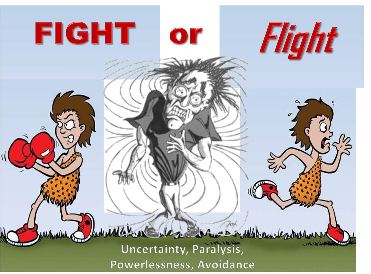 flight or fight response The fight-or-flight response anxiety is actually an automatic, built-in response to perceived threats that allows us to do what is necessary to protect ourselves.