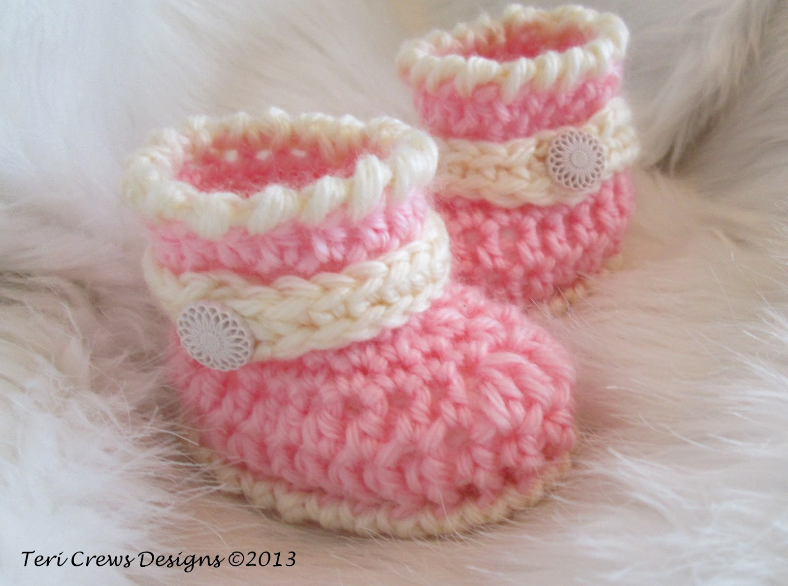 Free Crochet Patterns To Download For Babies : Teris Blog: Free Pattern, Cute Baby Boots