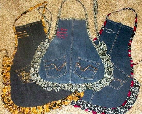 Поделки из джинсы. своими руками