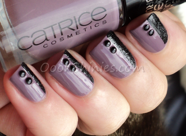 Catrice Put Lavender On Agenda with China Glaze Bump In The Night and BPS studs.