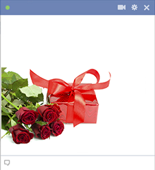 Love gift sticker for Facebook