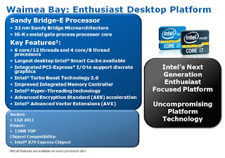 Informasi Tentang Processor Sandy Bridge-E Socket LGA2011 dari IDF 2011