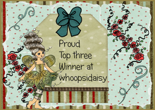 I made it to TOP 3 at Whoopsi Daisy Tic Tac Toe Challenge