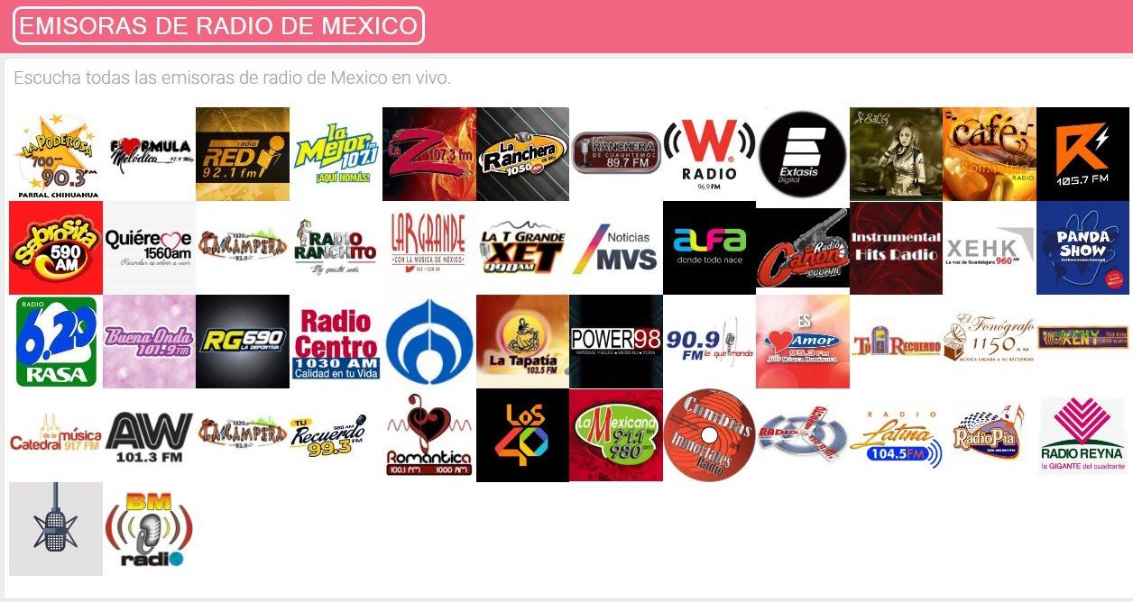 Escúchanos en Emisoras de Radio de México