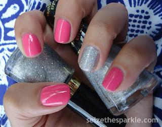 Sally Hansen La Vida Polka, Revlon Holographic Pearls & Diamond Texture