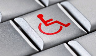handicap sign on a keyboard