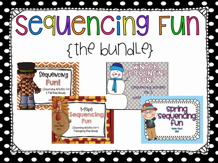 http://www.teacherspayteachers.com/Product/Sequencing-Fun-The-Bundle-1542159