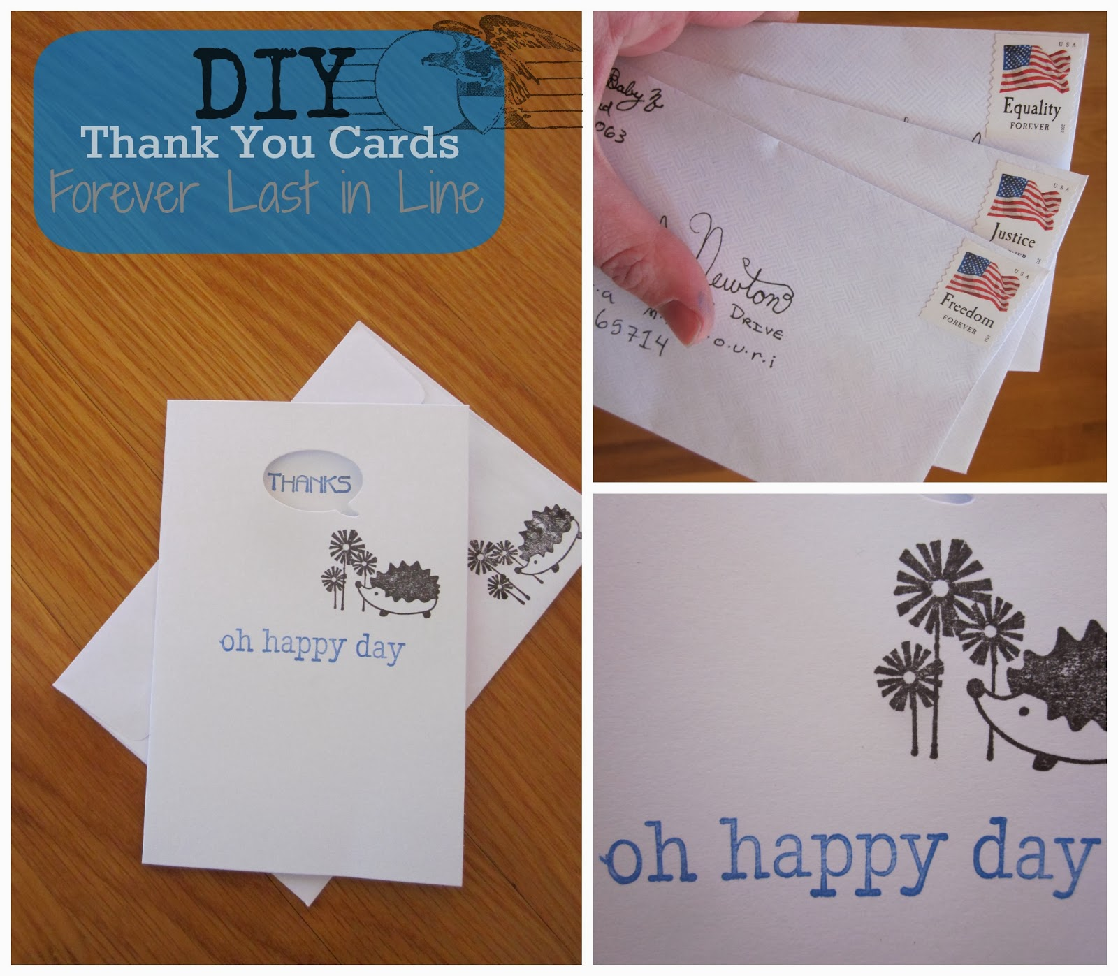 Forever Last in Line: DIY Thank You Cards