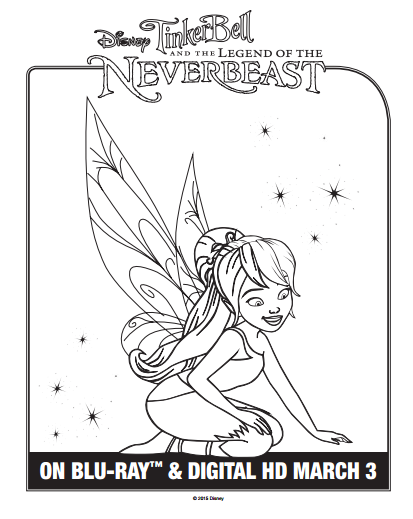 See Below To Print 1 Or All 5 Of These Fun Printable Coloring Sheets Featuring The Disney Fairies And NeverBeast From Movie
