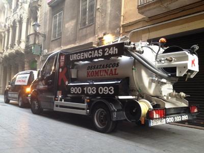 Desatasco de tuberías en Barcelona