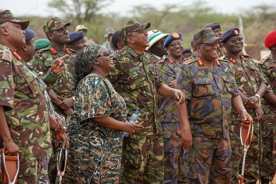 President UHURU KENYATTA wears military uniform - RAILA ODINGA should ...