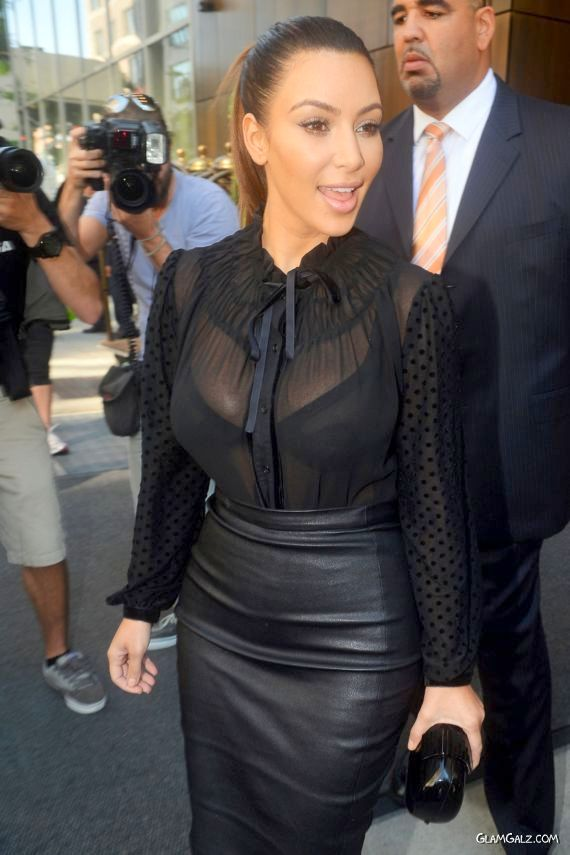 Kim Kardashian transparent bra hot