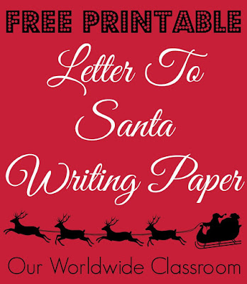Free Letter To santa Writing Paper Santa Letters