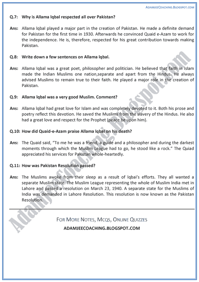 allama iqbal essay in english for class 9 Essay allama iqbal in english - essay on allama iqbal with quotations | my hero in history - ilmi hub muhammad iqbal essay allama iqbal in english home for students  essay allama.