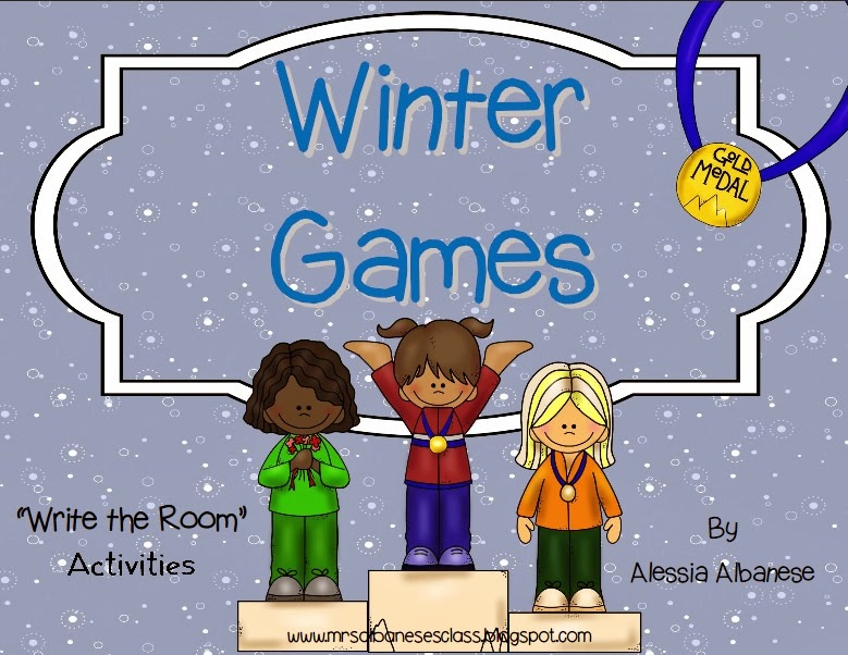 http://www.teacherspayteachers.com/Product/Write-the-Room-Literacy-Center-Winter-Games-1093216
