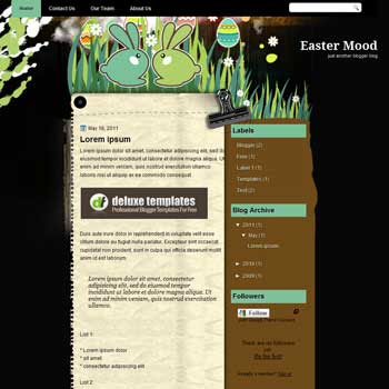 Easter Mood blogger template. personal template blog