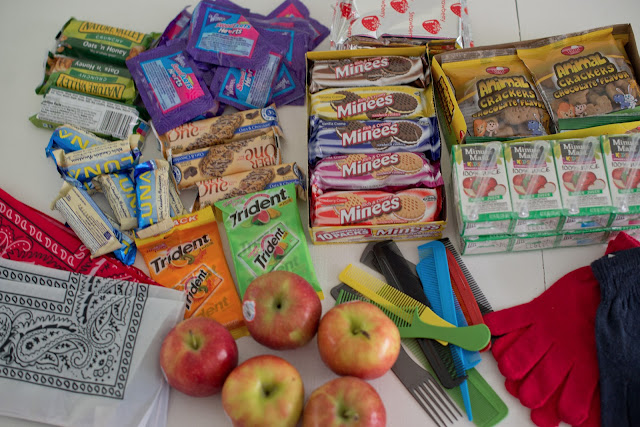 domestic fashionista snack bags for the homeless