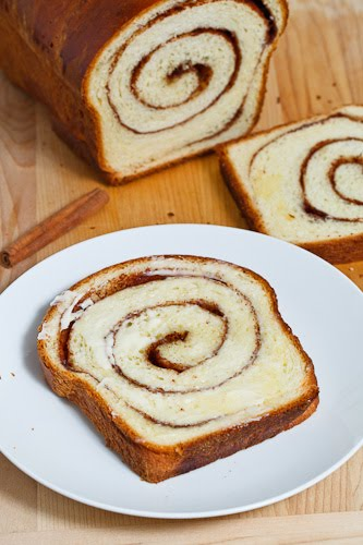 Cinnamon Swirl Bread, Buttered