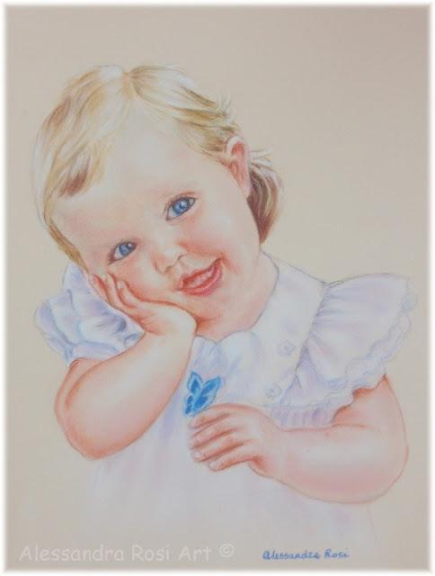 children's portraits paintingsi n pastel by professional portrait artist