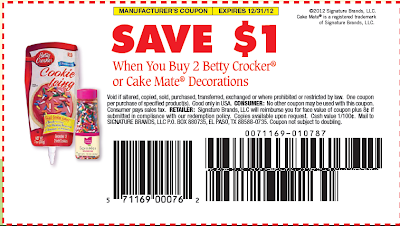Cake Decorating Company Voucher Code : USD1/2 Betty Crocker Decoration Coupon   USD1.36 Sprinkles ...