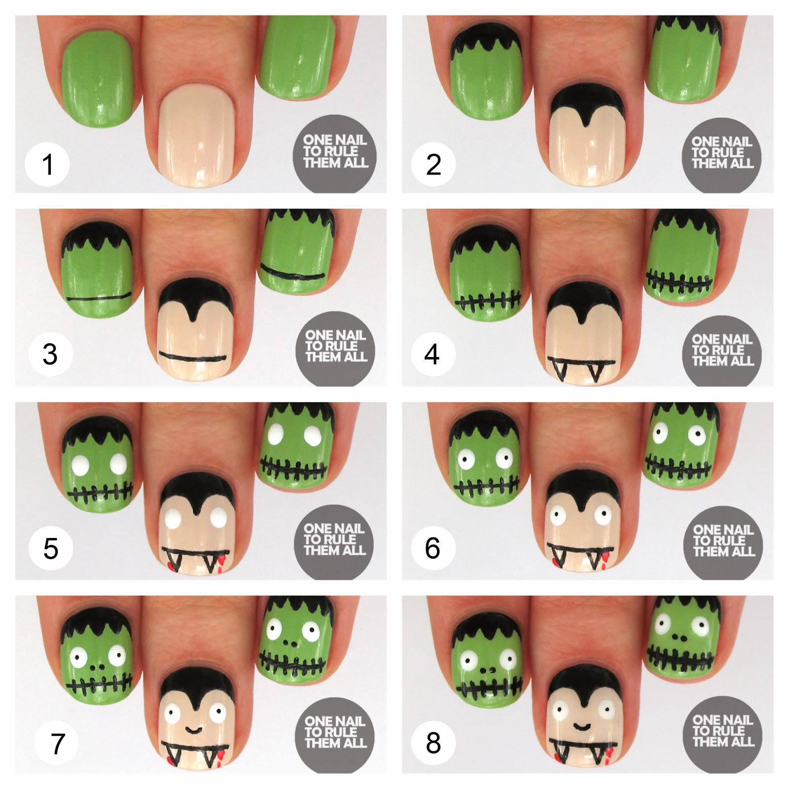 One nail to rule them all then and now frankenvamp - Idee de manucure ...