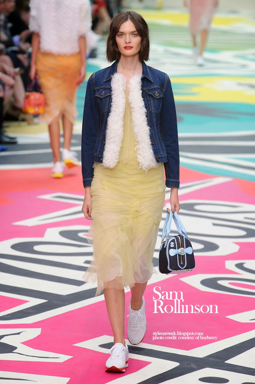 Sam Rollinson at Burberry Prorsum Womenswear Spring-Summer 2015 Collection Look